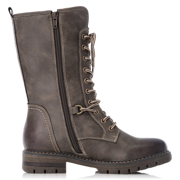 Rieker Ladies Lace Up Mid calf Boot