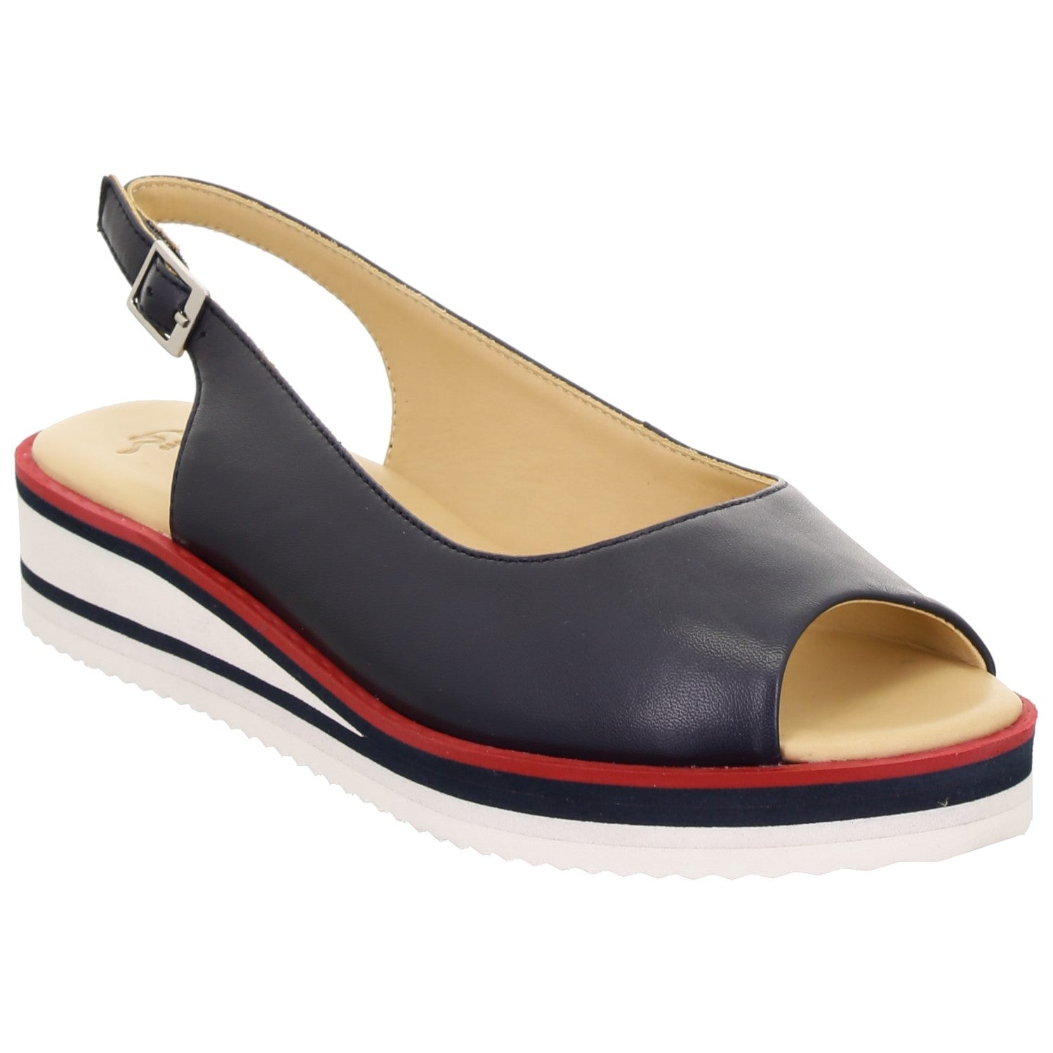 Ara Ladies Durban Peep Toe Sling Back Shoe