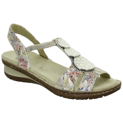 Ara Ladies Multi Print Sandal