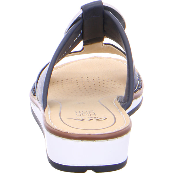 Ara Ladies Mule Sandal Navy leather