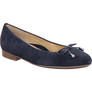 Ara Ladies Pump Shoe Navy suede