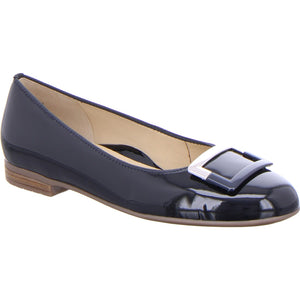 Ara Ladies Pump Shoe Navy Patent