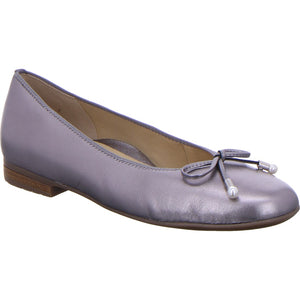 Ara Ladies Pump Shoe Bow Detail Metallic
