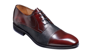 Barker Southwold Mens Lace Up Shoe Burgundy Black