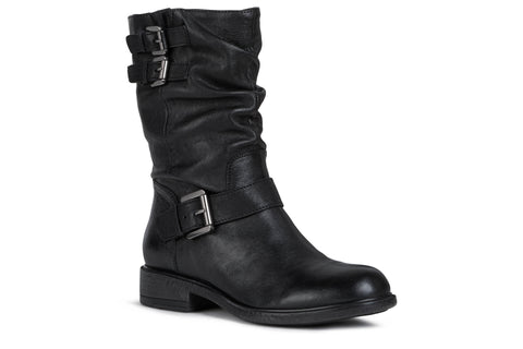 Geox Ladies Catria Flat Boot Black