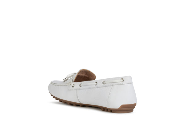 Geox Leelyan White Loafer