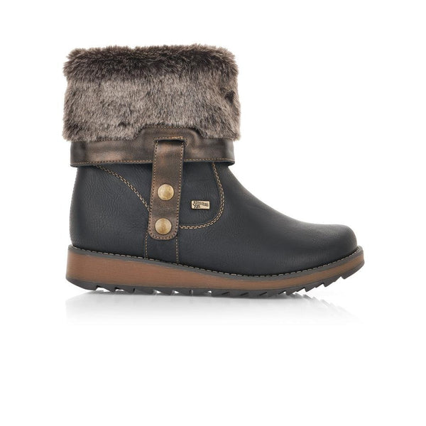 Remonte Ladies Adjustable Fur Trim Boot