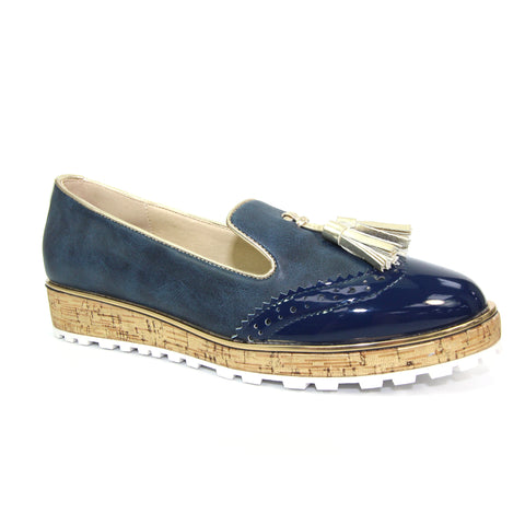 Lunar Ladies Michaela Navy Tassel Loafer