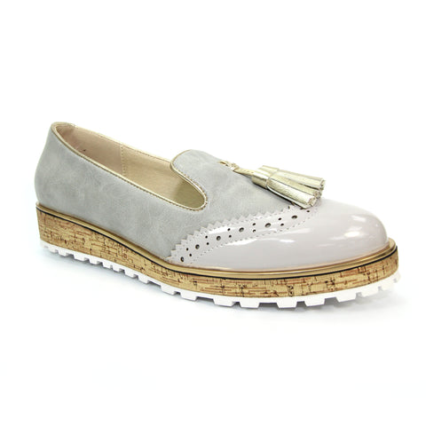 Lunar Ladies Michaela Lt.Gray Tassel Loafer