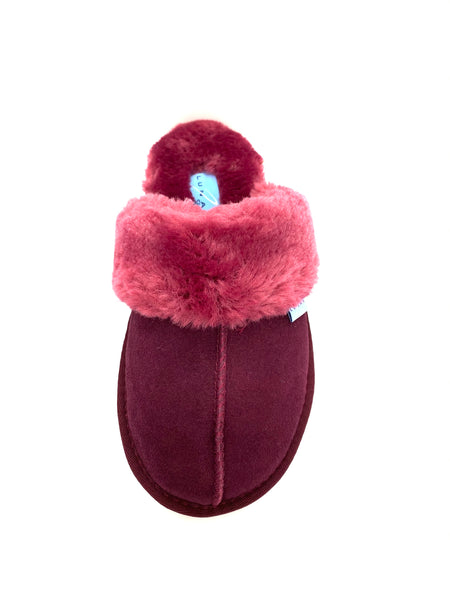 Lunar Rapsody Ladies Suede Backless Slipper