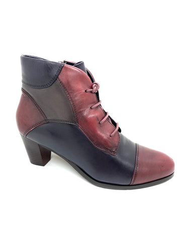 Regarde Le Ceil Sonia Ladies Ankle Boot Bordo