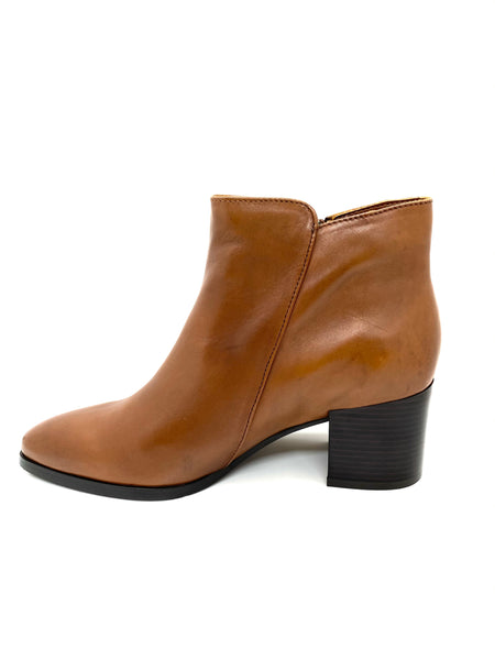 Regarde Le Ciel  Taylor Ladies Block Heel Ankle Boot Cognac