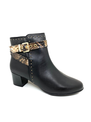 Lunar Ladies Dunn Ankle Boot Black