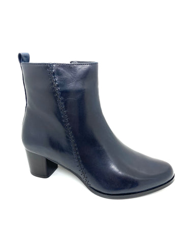 Canal Grande Ladies Zip Ankle Boot Jarim Navy