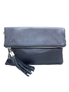 HB Italia Leather Feature Clutch Bag