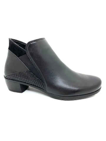Ara Jenny Sanitago Ladies Black Ankle Boot