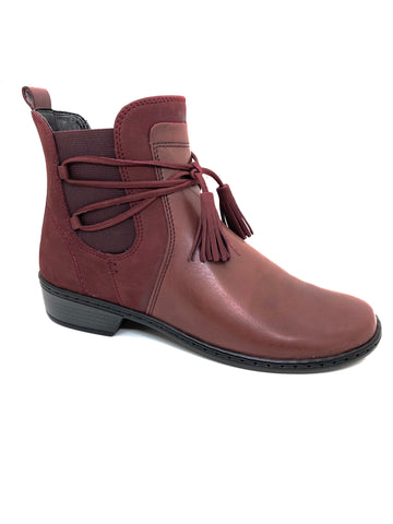 Ara Ladies Jenny Zaros Bordo Ankle Boot