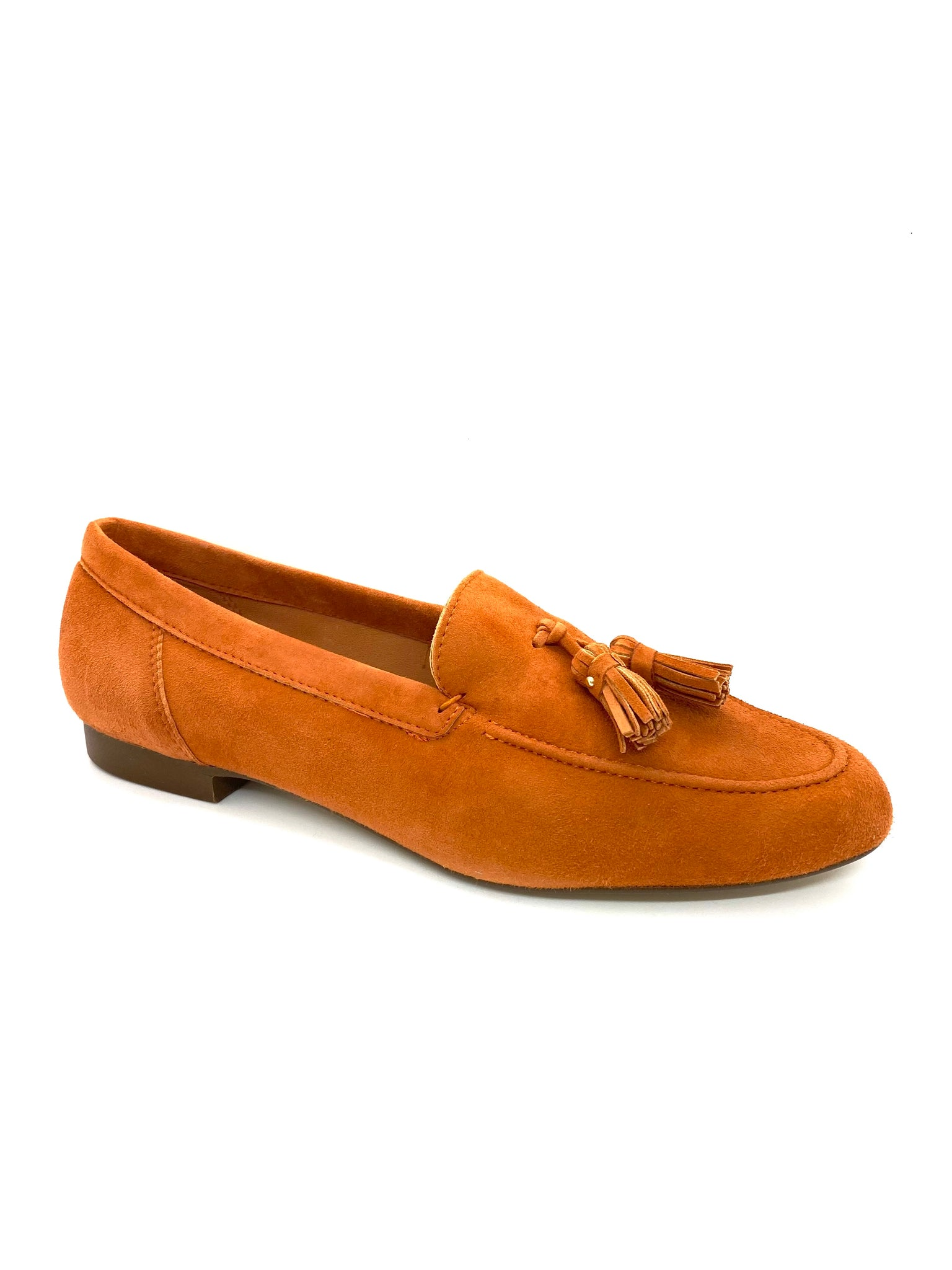SKA Ladies Geppo Nubuck Slip On Loafer Orange