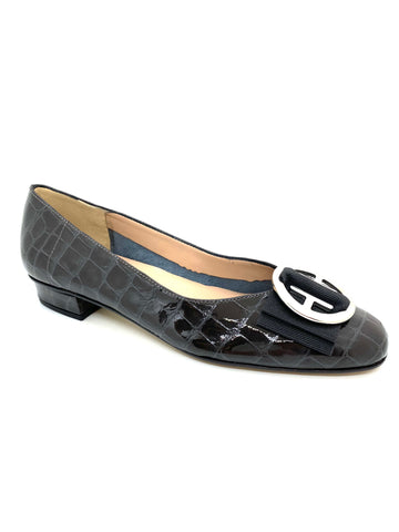HB Shoes June Ladies Bow Trim Pump
