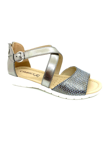 Caprice Ladies Cross Strap Zip Back Sandal