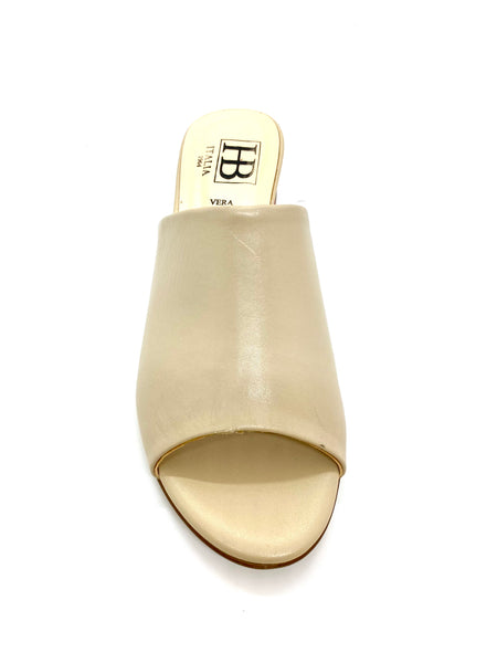 New HB Shoes Ladies Mid Heel Mule Sandal