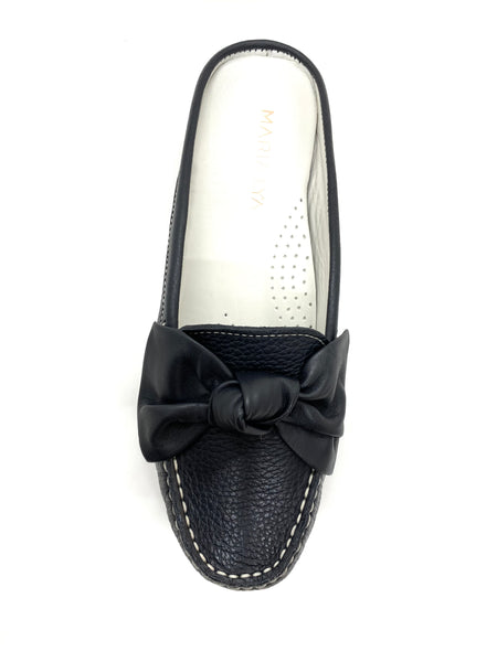 Maria Lya Ladies Backless Loafer Bow Trim