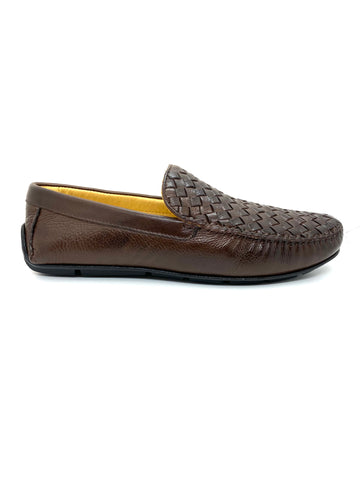 Savelli Men's Woven Vamp Casual Slip On Shoe