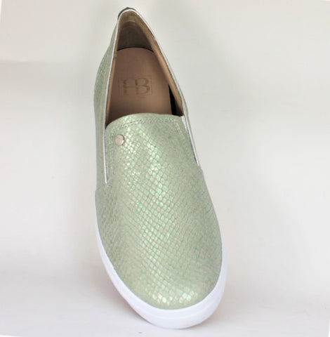 Sprint Slip On Metallic Print Trainer Shoe
