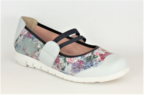 Napa Y Spring Floral Print Mary Jane Slip On Shoe