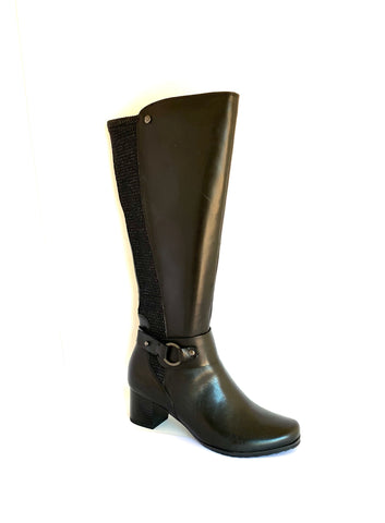 Caprice Ladies Long Zip Boot Medium Heel