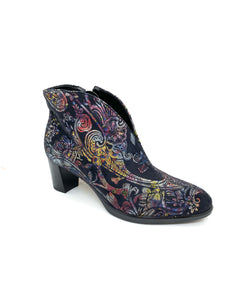 Ara Ladies V Front Ankle Boot Oriental Print