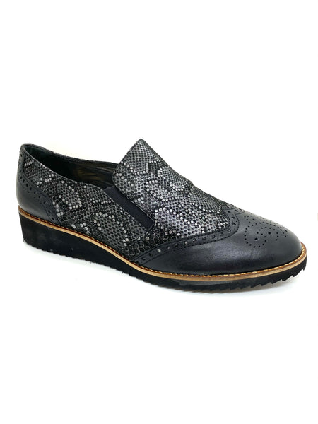 Snake Print Wedge Loafer