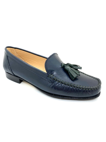 Low Heel Tassle Trim Loafer