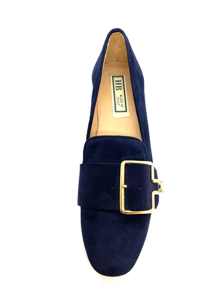Low Heel Court Shoe With Buckle Detail