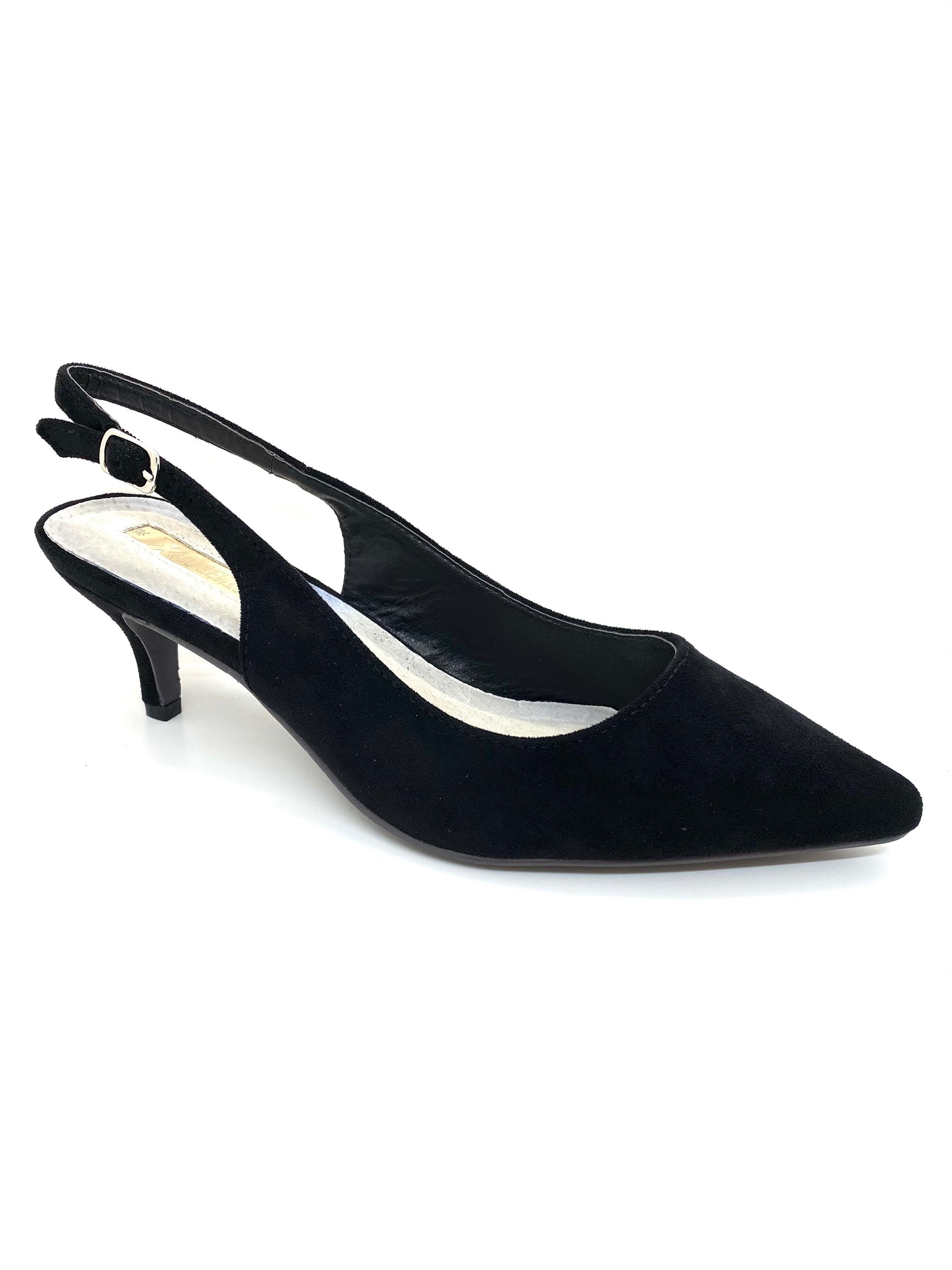 Tentations Mid Heel Sling Back Court Shoes