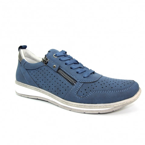 Lunar Ladies Leap Lace Up Trainer Navy
