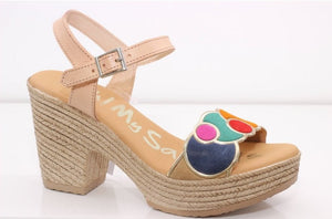 Oh My Sandals 4607 Beige Combo