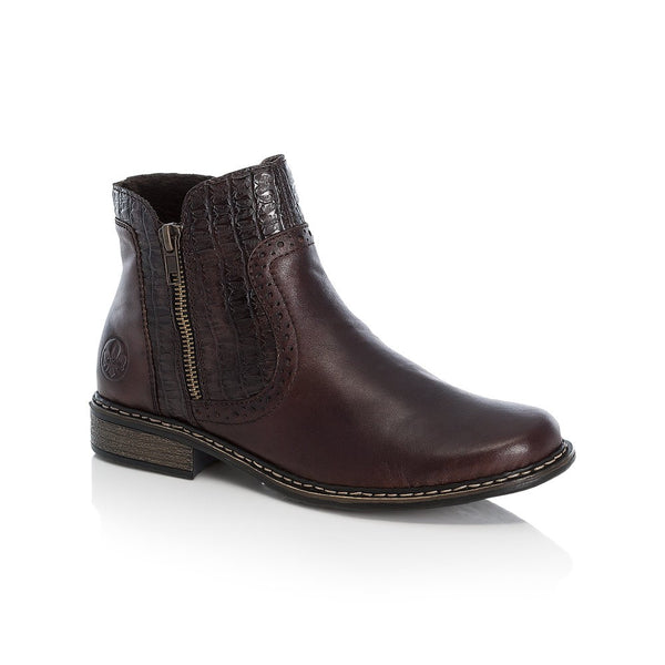 Rieker Ladies Zip Ankle Boot