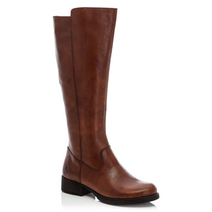 Rieker Ladies Long Leg Zip Boot Flat Heel