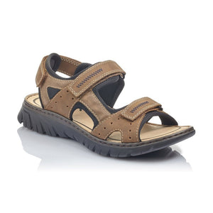 Rieker Men's Sandal Adjustable Straps Tan