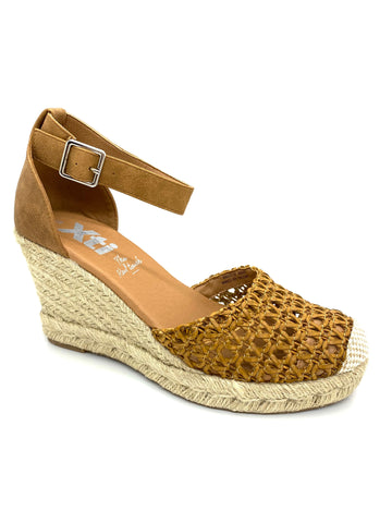 Xti Ladies Wedge Heel Ankle Strap Espadrille