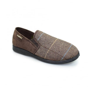 Goodyear Men's Slippers Harrison Brown Tweed