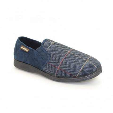 Goodyear Men's Slippers Harrison Navy Tweed