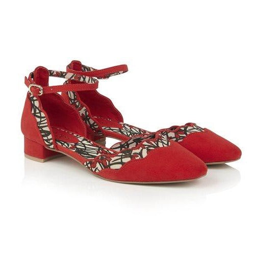 Ruby Shoo Ladies Lydia Red Fabric Mary Jane Shoe