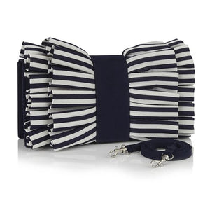 Ruby Shoo Ladies Nassau Navy Stripe Clutch Bag