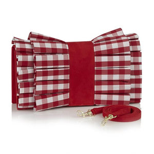 Ruby Shoo Ladies Nassau Red White Clutch Bag