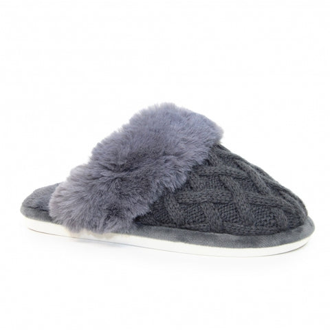 Ladies Lunar Shannon Quilted mule Slipper