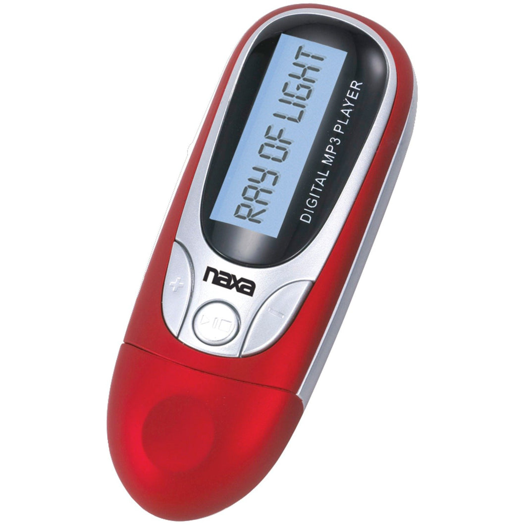 Naxa NM-105 MP3 4GB Rojo - Reproductor MP3 (Reproductor de MP3, 4 GB, LCD, USB 2.0, Radio FM, Rojo)