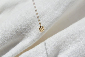 Letter pebble necklace