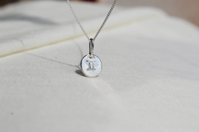 Silver Star sign necklace